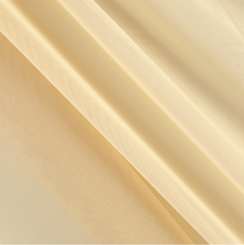 """120"""" Wide (10ft Wide) X 120 Yards Roll - Sheer Voile Chiffon Fabric - Perfect for Draping Panels and Masking for Weddings, Parties & Events, Tent Draping - Champagne"""