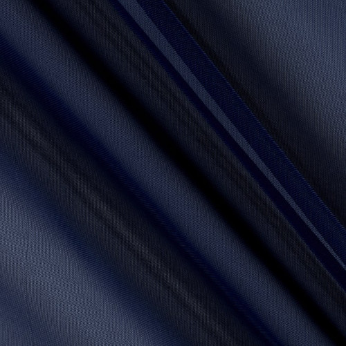 "120"" Wide (10ft Wide) X 120 Yards Roll - Sheer Voile Chiffon Fabric - Perfect for Draping Panels and Masking for Weddings, Parties & Events, Tent Draping - Navy"