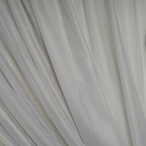 "120"" Wide (10ft Wide) X 120 Yards Roll - Sheer Voile Chiffon Fabric - Perfect for Draping Panels and Masking for Weddings, Parties & Events, Tent Draping - Silver"