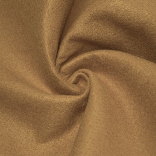 "72-Inch Wide 1/16"" Thick Acrylic Felt Fabric - Light Camel"