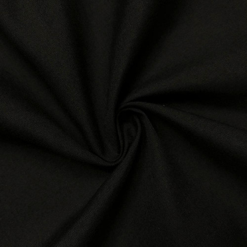 "60"" Black Premium Polyester Cotton Blend Broadcloth"