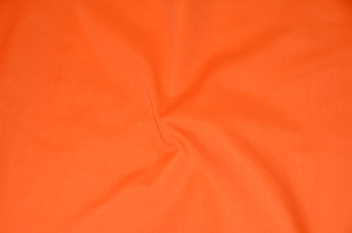 "60"" Orange Premium Polyester Cotton Blend Broadcloth"