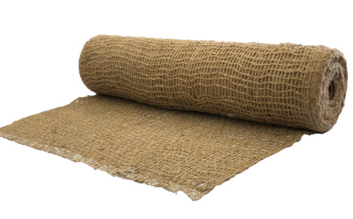 "48"" Wide Jute Erosion Control, Soil Saver Mesh Blanket - 20 Yards"