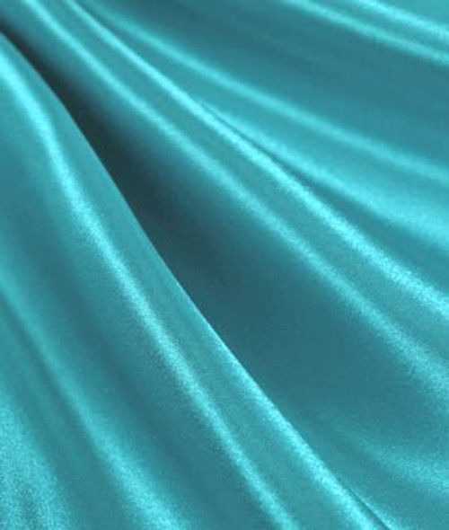 "Aqua - 60"" Wide Charmeuse Satin Fabric"
