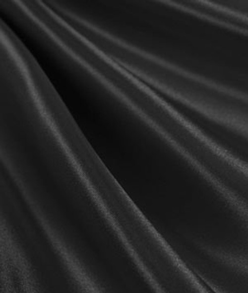 "Black - 60"" Wide Charmeuse Satin Fabric"