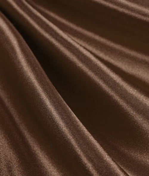 "Brown - 60"" Wide Charmeuse Satin Fabric"
