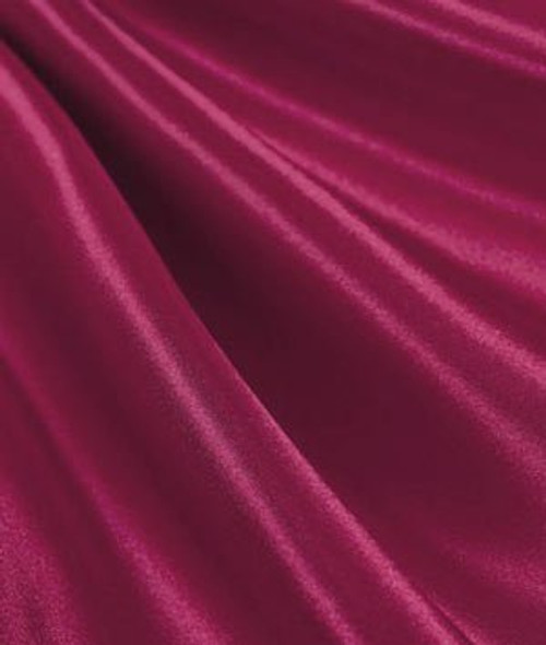 "Burgundy - 60"" Wide Charmeuse Satin Fabric"