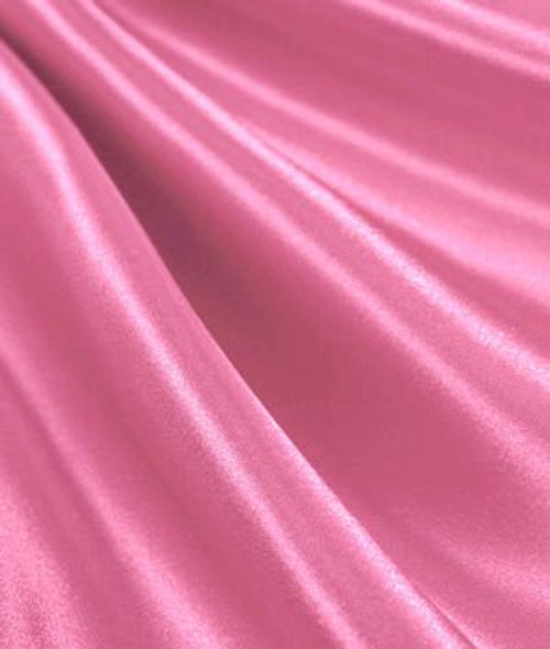 "Candy Pink - 60"" Wide Charmeuse Satin Fabric"