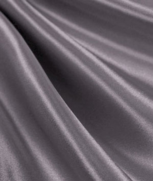 "Charcoal - 60"" Wide Charmeuse Satin Fabric"