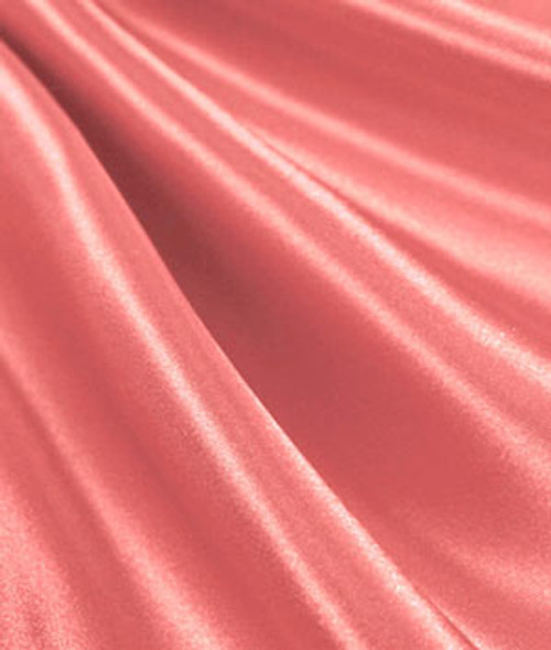 "Coral - 60"" Wide Charmeuse Satin Fabric"