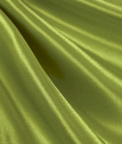 "Dark Lime Green - 60"" Wide Charmeuse Satin Fabric"