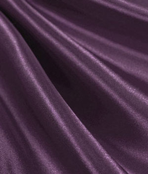 "Dark Plum - 60"" Wide Charmeuse Satin Fabric"