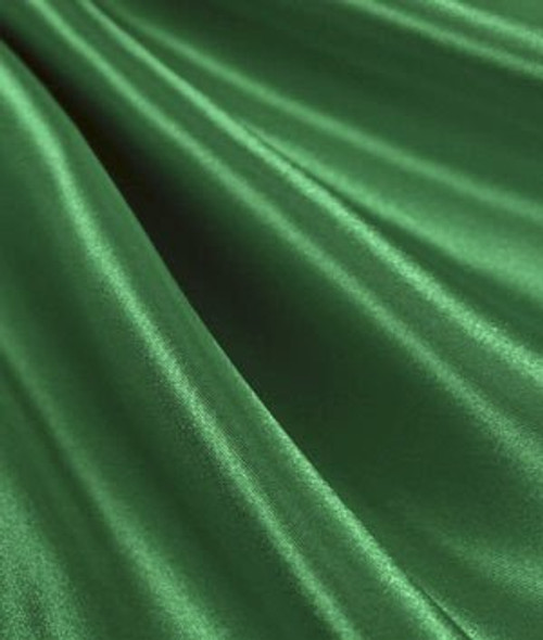 "Flag Green - 60"" Wide Charmeuse Satin Fabric"