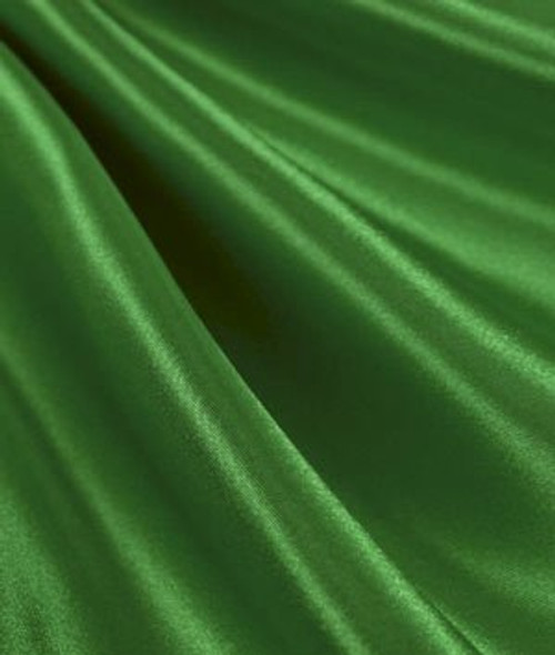 "Kelly Green - 60"" Wide Charmeuse Satin Fabric"