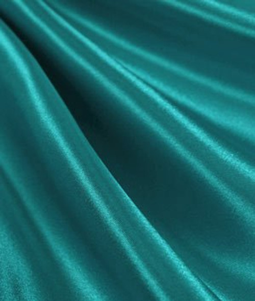 "Light Teal - 60"" Wide Charmeuse Satin Fabric"