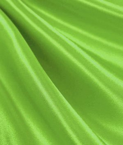 """Lime - 60"""" Wide Charmeuse Satin Fabric"""