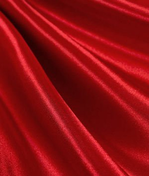 "Red  - 60"" Wide Charmeuse Satin Fabric"