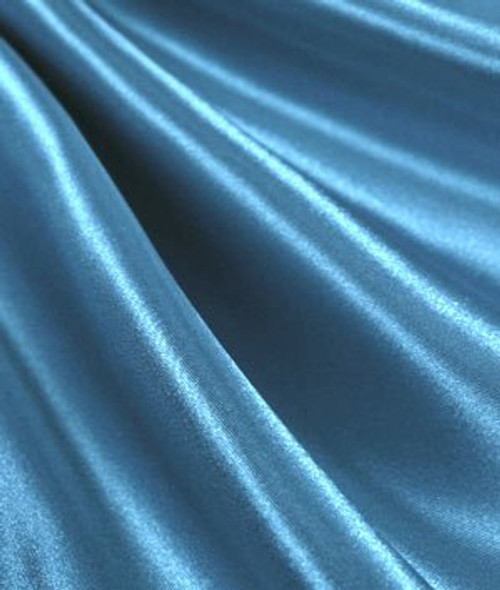 "Turquoise  - 60"" Wide Charmeuse Satin Fabric"