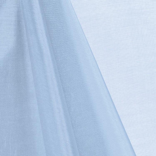 Baby Blue Mirror Crystal Organza Fabric - 100 Yards Roll