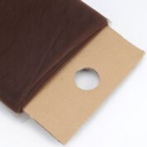 Brown - Nylon Tulle Fabric - 40 Yards By Roll
