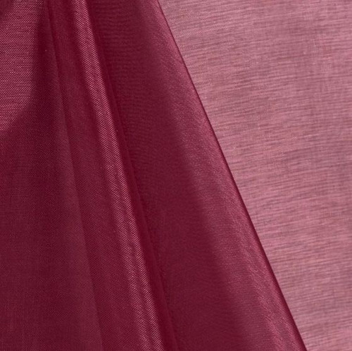 Burgundy - Mirror Crystal Organza Fabric - 100 Yards Roll