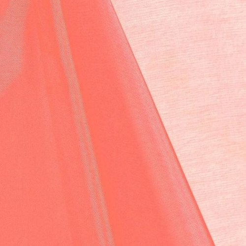 Coral - Mirror Crystal Organza Fabric - 100 Yards Roll