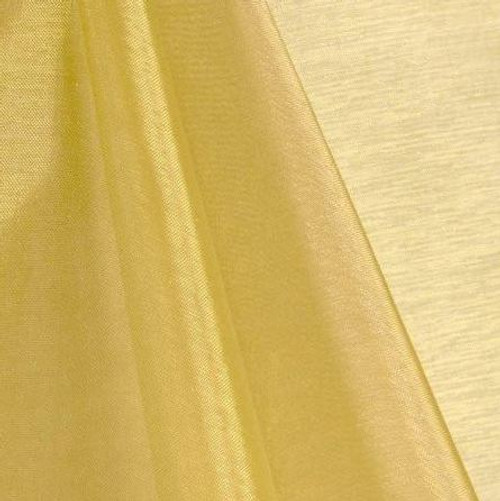 Gold - Mirror Crystal Organza Fabric - 100 Yards Roll