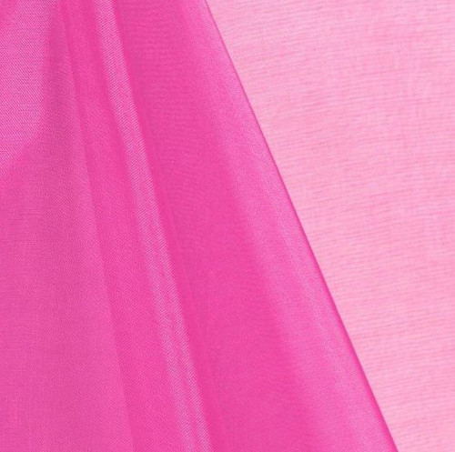 Hot Pink - Mirror Crystal Organza Fabric - 100 Yards Roll