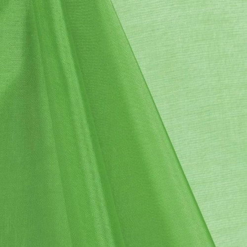 Lime - Mirror Crystal Organza Fabric - 100 Yards Roll