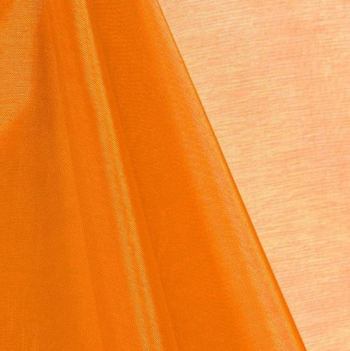 Orange - Mirror Crystal Organza Fabric - 100 Yards Roll