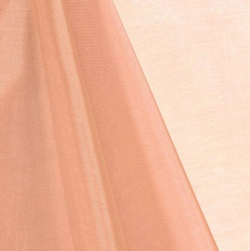Peach - Mirror Crystal Organza Fabric - 100 Yards Roll