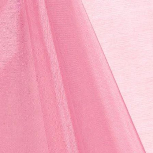 Pink - Mirror Crystal Organza Fabric - 100 Yards Roll