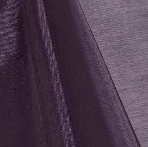 Plum - Mirror Crystal Organza Fabric - 100 Yards Roll