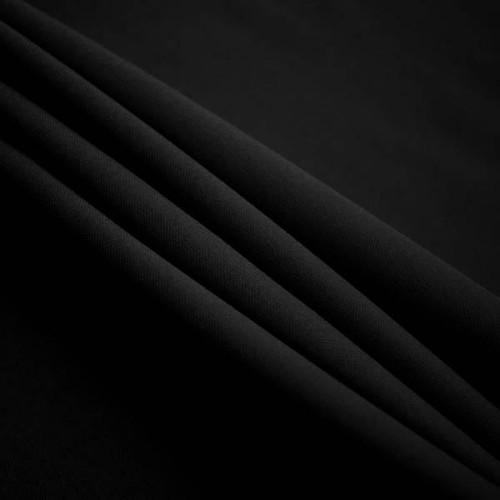 "Black Polyester Poplin Fabric 60"" Wide"