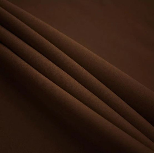 "Brown - Polyester Poplin Fabric 60"" Wide"