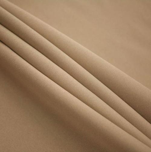 "Khaki - Polyester Poplin Fabric 60"" Wide"