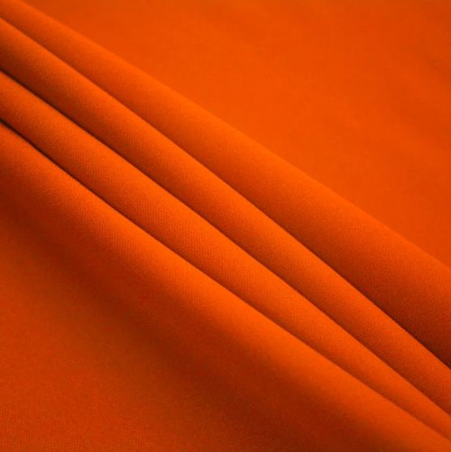 "Orange - Polyester Poplin Fabric 60"" Wide"