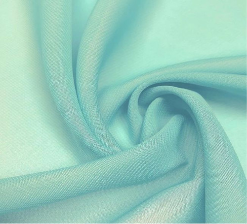"60"" Wide Chiffon Fabric - Aqua Blue"