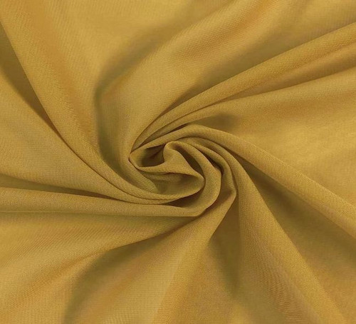 "60"" Wide Chiffon Fabric - Gold"