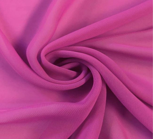 "60"" Wide Chiffon Fabric - Magenta"