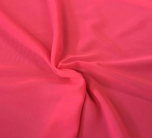 "60"" Wide Chiffon Fabric - Neon Fuchsia"