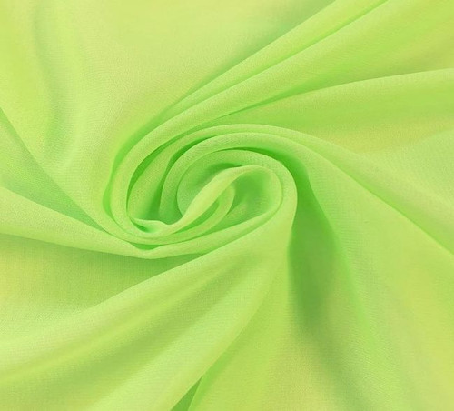 "60"" Wide Chiffon Fabric - Neon Green"