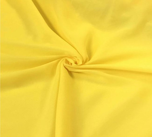 "60"" Wide Chiffon Fabric - Neon Yellow"