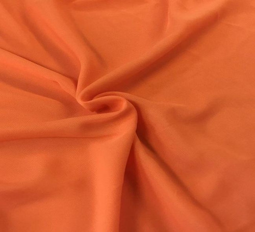 "60"" Wide Chiffon Fabric - Orange"