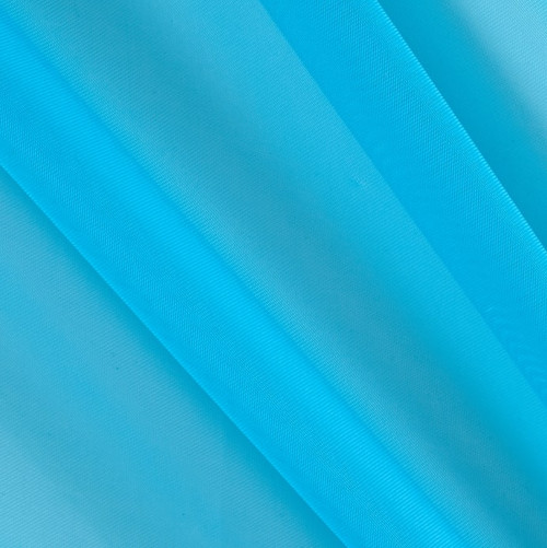 """120"""" Wide (10ft Wide) X 120 Yards Roll - Sheer Voile Chiffon Fabric - Perfect for Draping Panels and Masking for Weddings, Parties & Events, Tent Draping - TURQUOISE"""