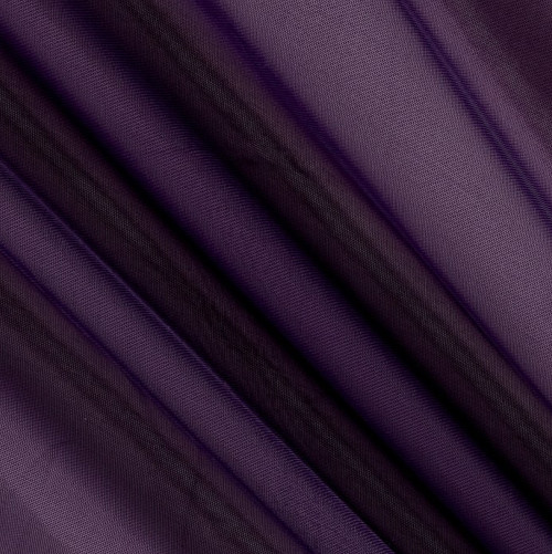 """120"""" Wide (10ft Wide) X 120 Yards Roll - Sheer Voile Chiffon Fabric - Perfect for Draping Panels and Masking for Weddings, Parties & Events, Tent Draping - PLUM"""