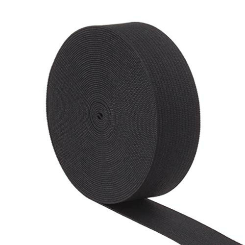 AK TRADING CO. Knitted Elastic 1'' Wide X 50 Yards - Black
