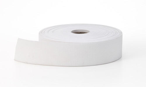 AK TRADING CO. Knitted Elastic 1'' Wide X 50 Yards - White
