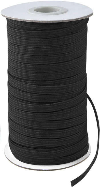 AK TRADING CO. Knitted Elastic 1/4'' Wide 288 Yards - Black