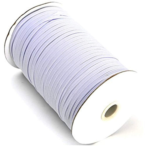 AK TRADING CO. Knitted Elastic 1/4'' Wide 288 Yards - White